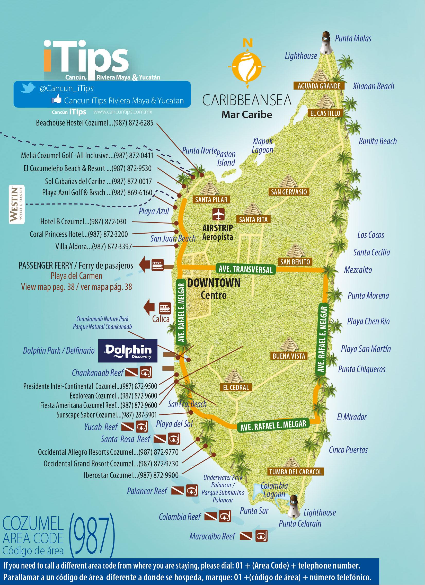 cozumel-map