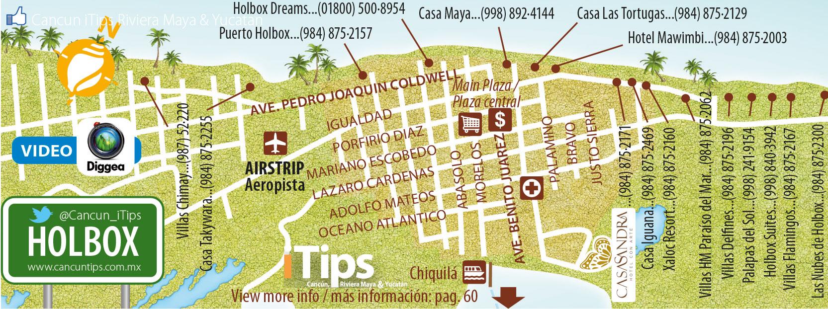 Mapa Holbox Cancun Tips